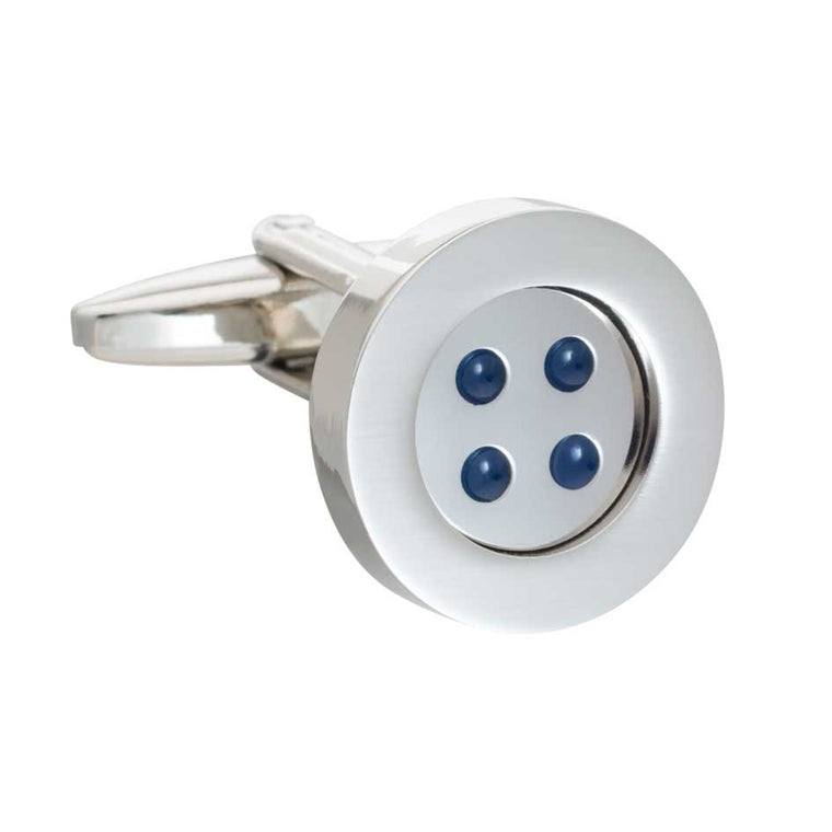 Simply Metal Classic Button Cufflinks by Elizabeth Parker