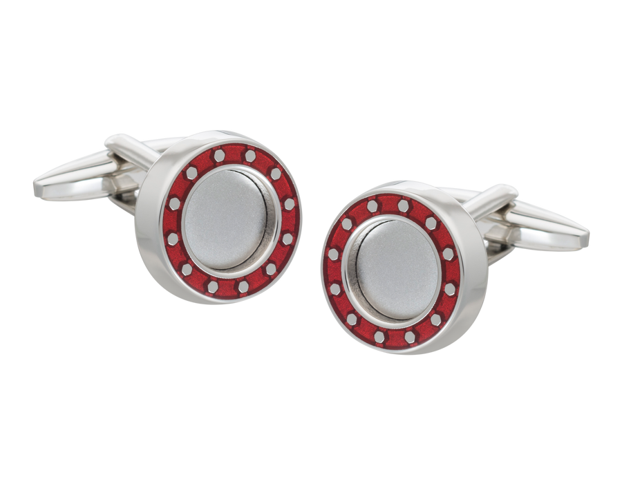 'Industrial Core' Red Cufflinks