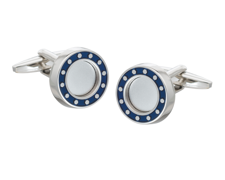 'Industrial Core' Blue Cufflinks