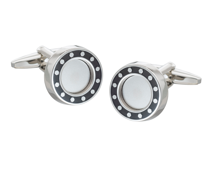 'Industrial Core' Black Cufflinks
