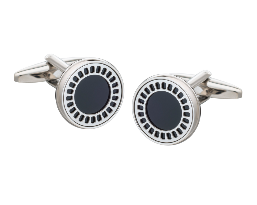 Onyx Film Reel Cufflinks