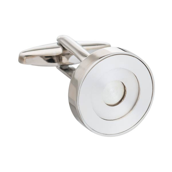 Silver Concentric Ring Luxury Cufflinks by Elizabeth Parker