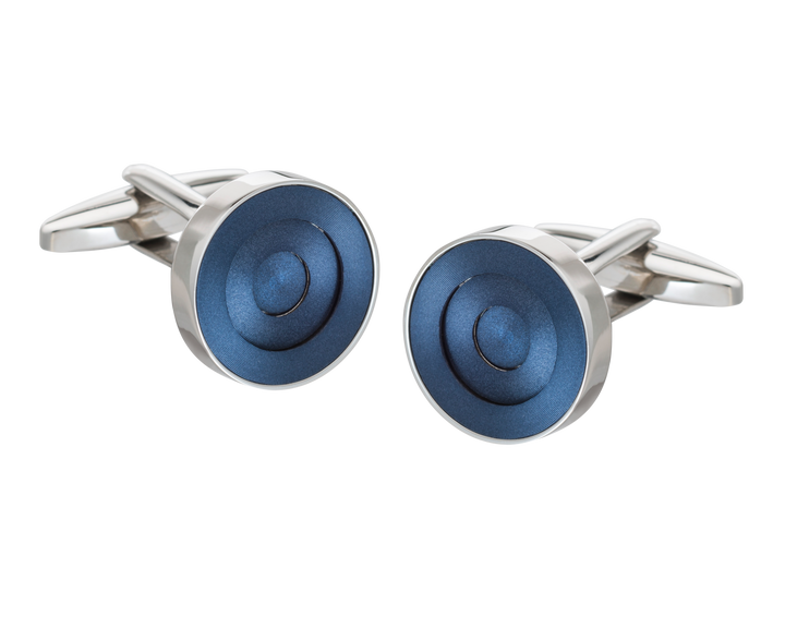 Blue Concentric Ring Cufflinks