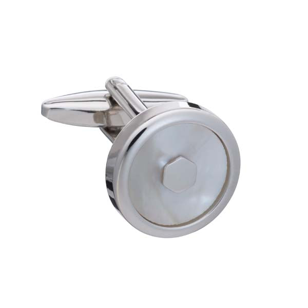 'Hexy Middle' Mother of Pearl Cufflinks