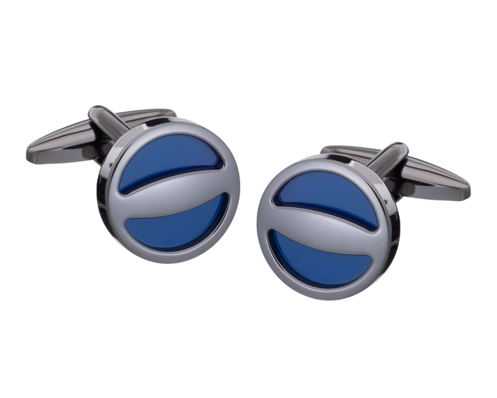 The Label Navy Gunmetal Cufflinks