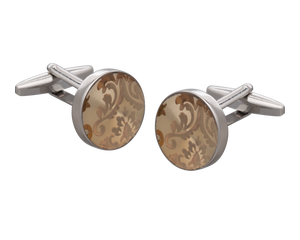 'True Decadence' Gold Flocked Cufflinks