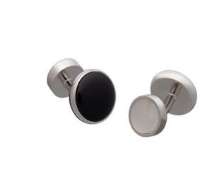 All Change Reversible Onyx Mother of Pearl Cufflinks