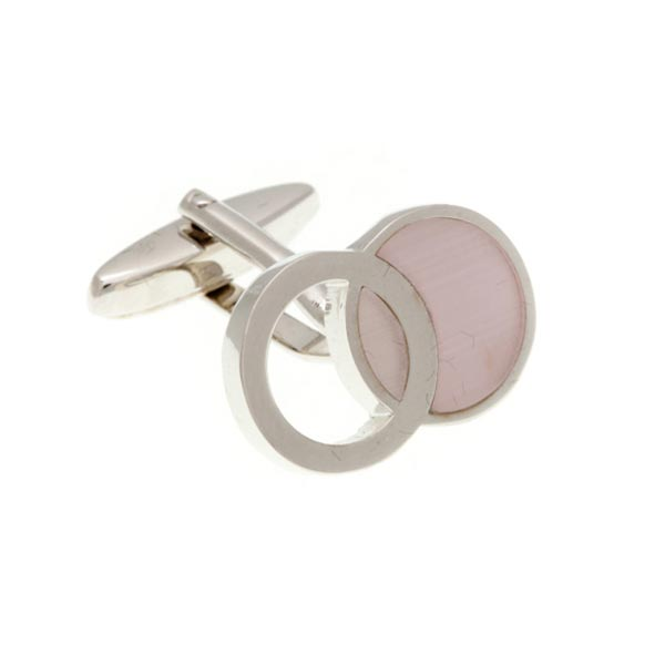 Interlinked Pink Cufflinks by Elizabeth Parker England