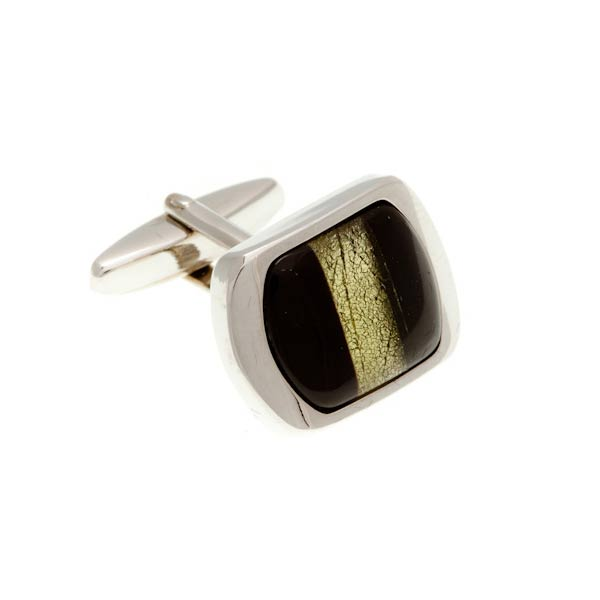 Sand Coloured Lizard Eye Cufflinks by Elizabeth Parker England