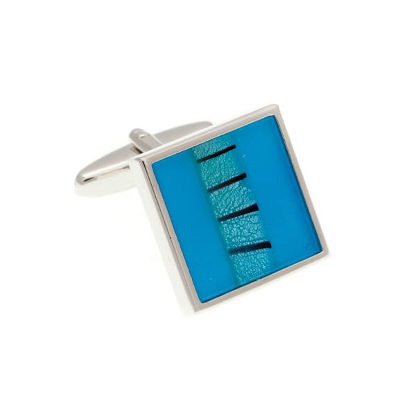 One Strip Square Light Cufflinks by Elizabeth Parker England