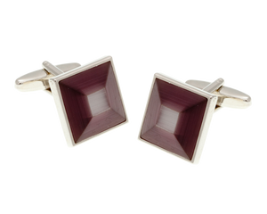 Purple Square Bevel Cufflinks
