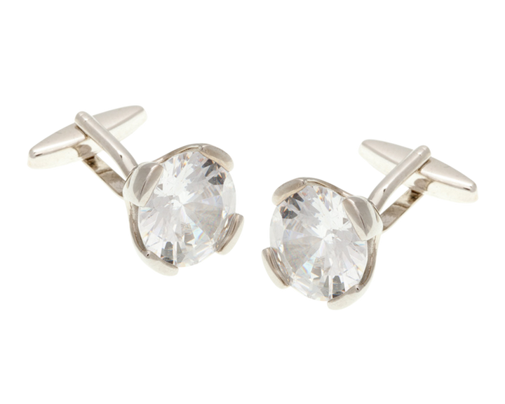 Headlight Crystal Clear Crystal Cufflinks