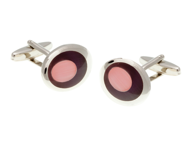 Purple Pink Oval Eye Cufflinks