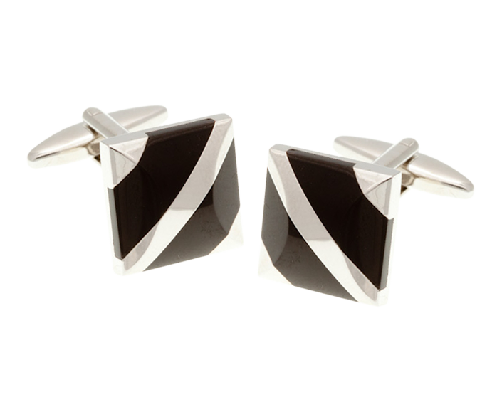 Covered Corners Onyx Cufflinks