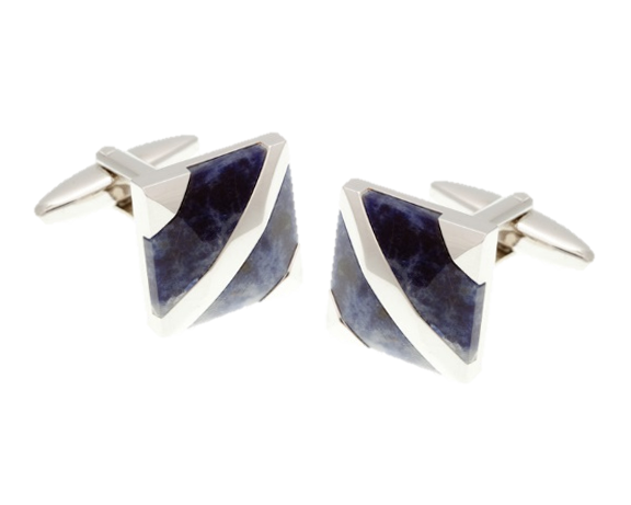 Covered Corners Sodalite Blue Cufflinks