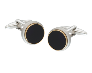 The Classic Onyx gold edged Cufflinks