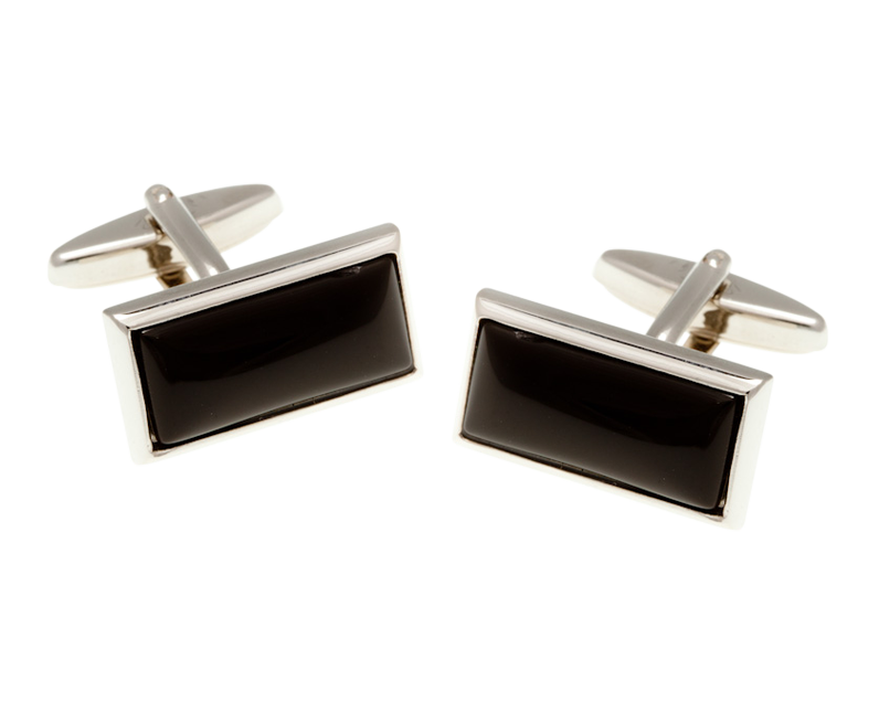Oblong Onyx Cufflinks