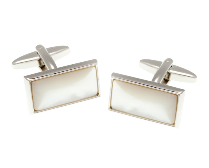 Oblong Mother Of Pearl Cufflinks