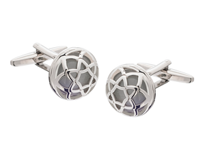 Exotic Encased White Cufflinks