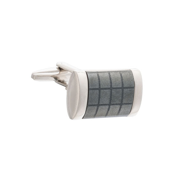 Fit for A King Grey Hematite Rectangular Cufflinks by Elizabeth Parker