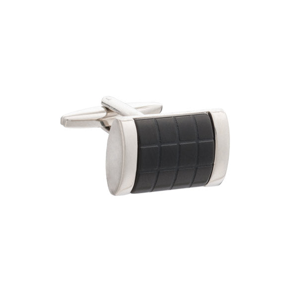 Fit for A King Black Onyx Rectangular Cufflinks by Elizabeth Parker