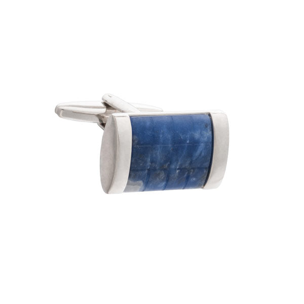 Fit for A King Blue Sodalite Rectangular Cufflinks by Elizabeth Parker