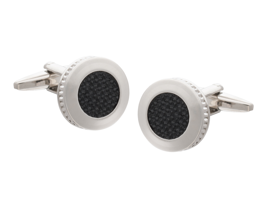 Matt Black Construction Themed Cufflinks