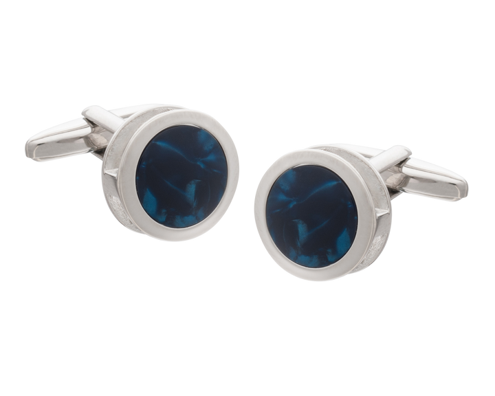 Blue Inside Out Cufflinks