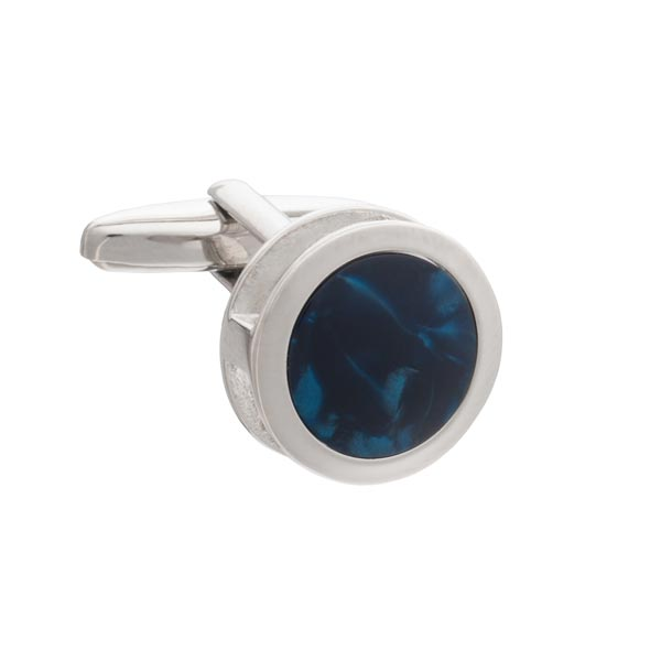 Blue Inside Out Cufflinks by Elizabeth Parker