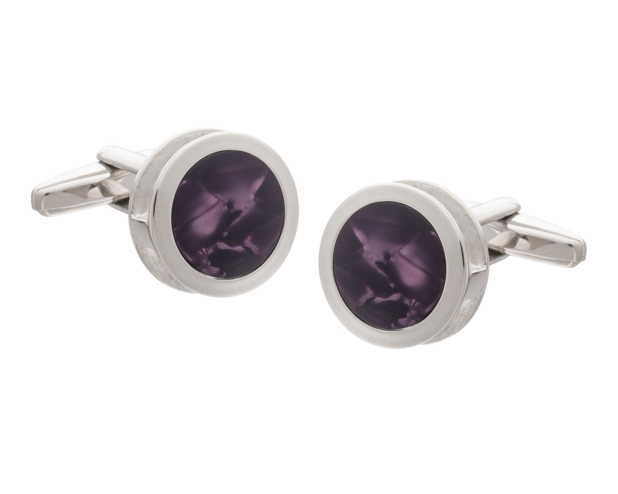 Purple Inside Out Cufflinks