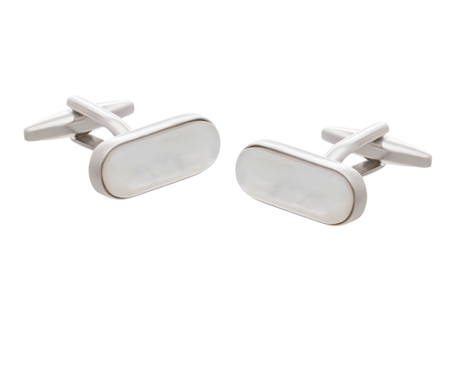 Mother of Pearl Pilule Cufflinks