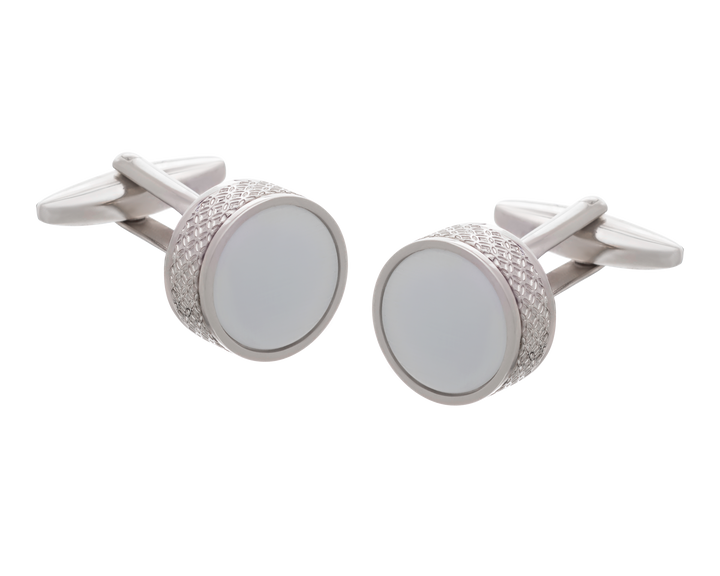 'On The Edge' White Cufflinks