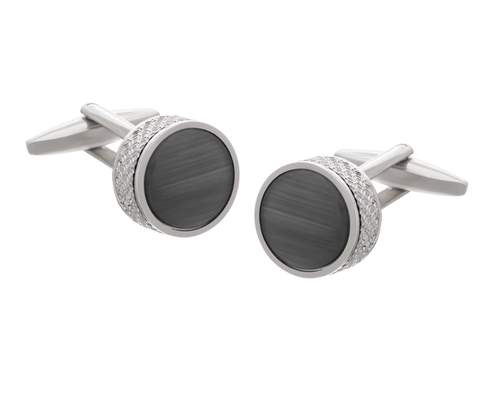 'On The Edge' Grey Cufflinks
