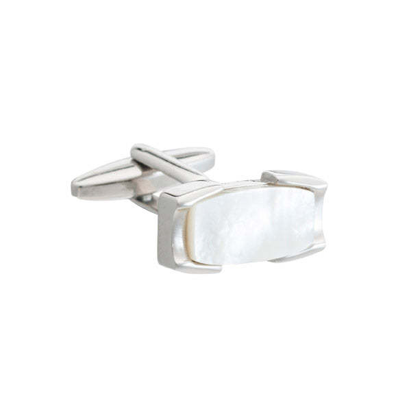 Mother of Pearl Set Crowning Glory Cufflinks by Elizabeth Parker