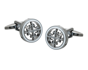 Vintage Cross Gunmetal Cufflinks