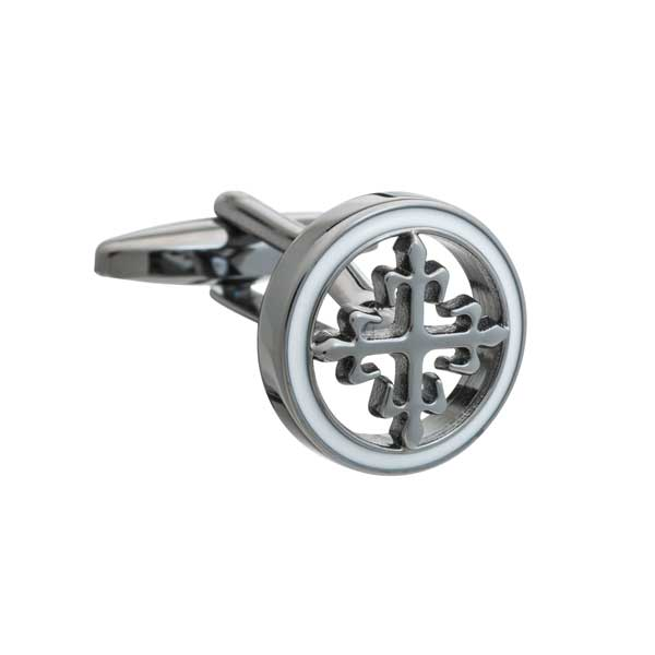 Gun Metal Vintage Cross Cufflinks