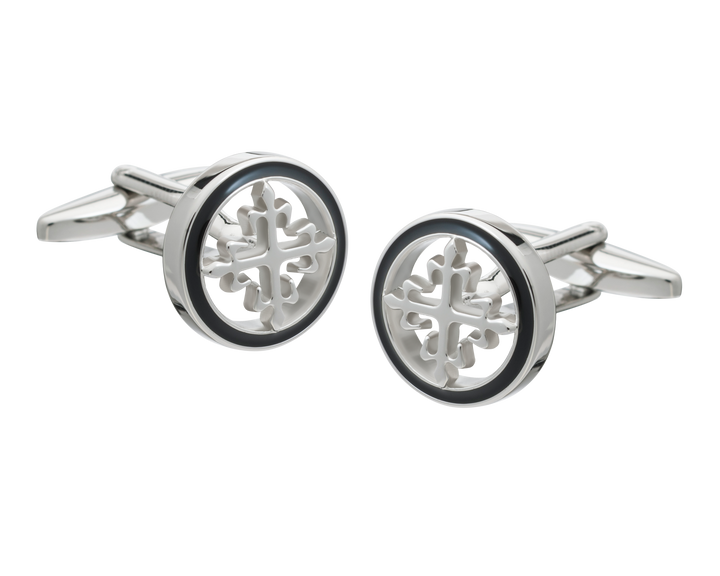 Vintage Metal Cross Cufflinks