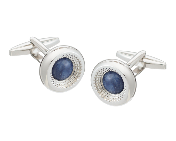 Centre Of Attention Aventurine Cufflinks