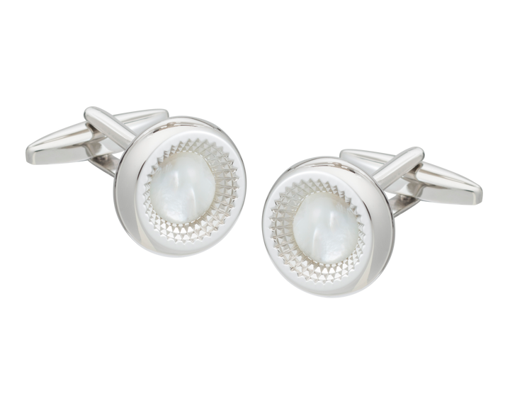 Centre Of Attention Mother Of Pearl Cufflinks
