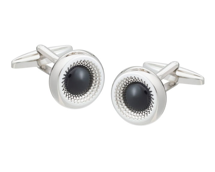Centre Of Attention Onyx Cufflinks