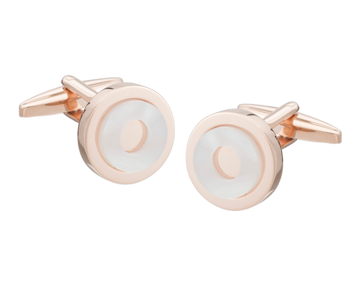 'Round in Circles' Rose Gold Cufflinks