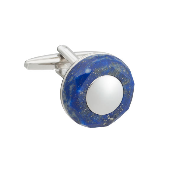 Circle Of Stone Sodalite Cufflinks By Elizabeth Parker