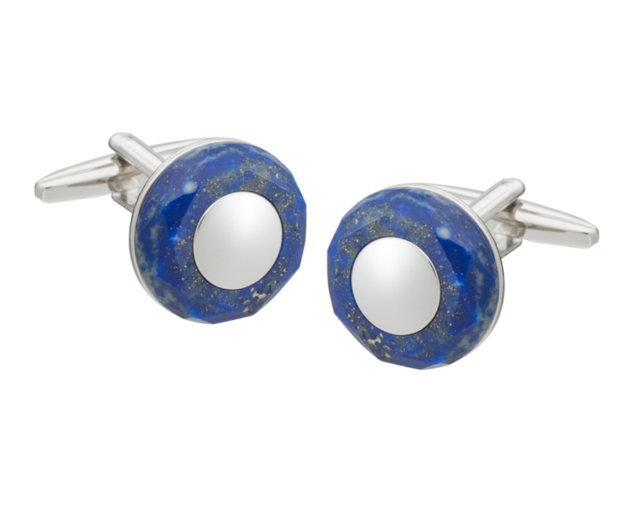 Circle of Stone Sodalite Cufflinks