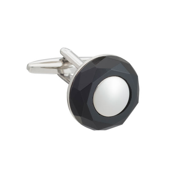 Circle of Stone Black Onyx Elizabeth Parker Cufflinks