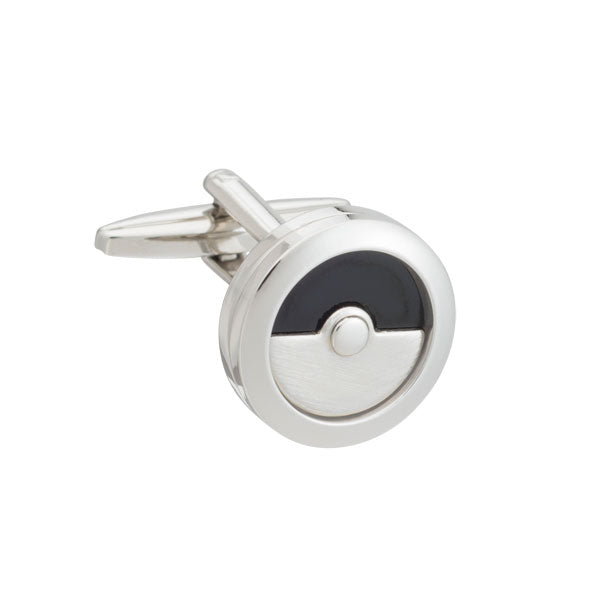 Black Onyx Round Cell Cufflinks by Elizabeth Parker