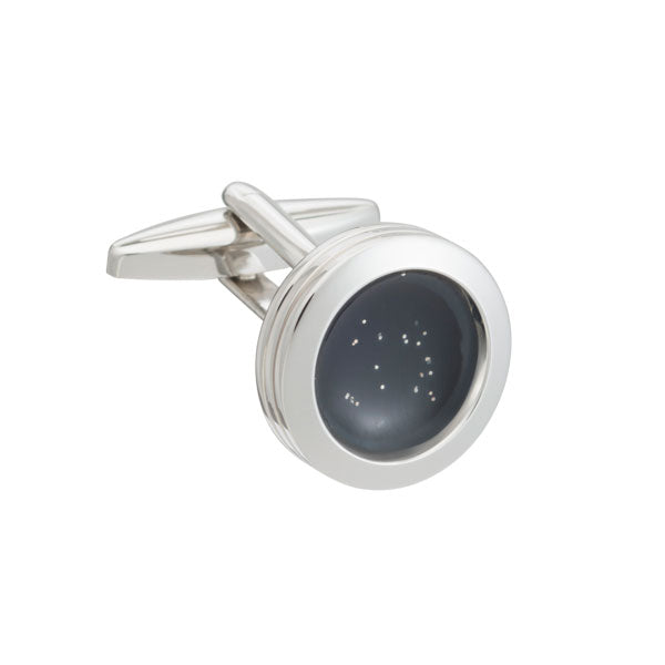 Elizabeth Parker The World at Dusk Round Black Cufflinks