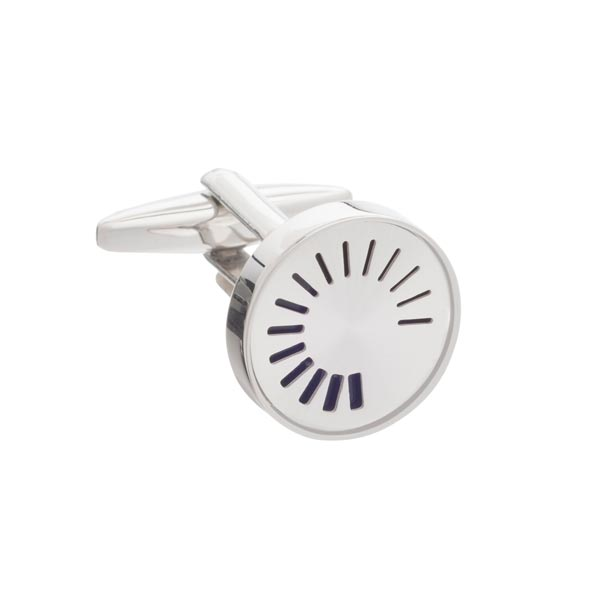 Buffering Icon Simply Metal Cufflinks by Elizabeth Parker
