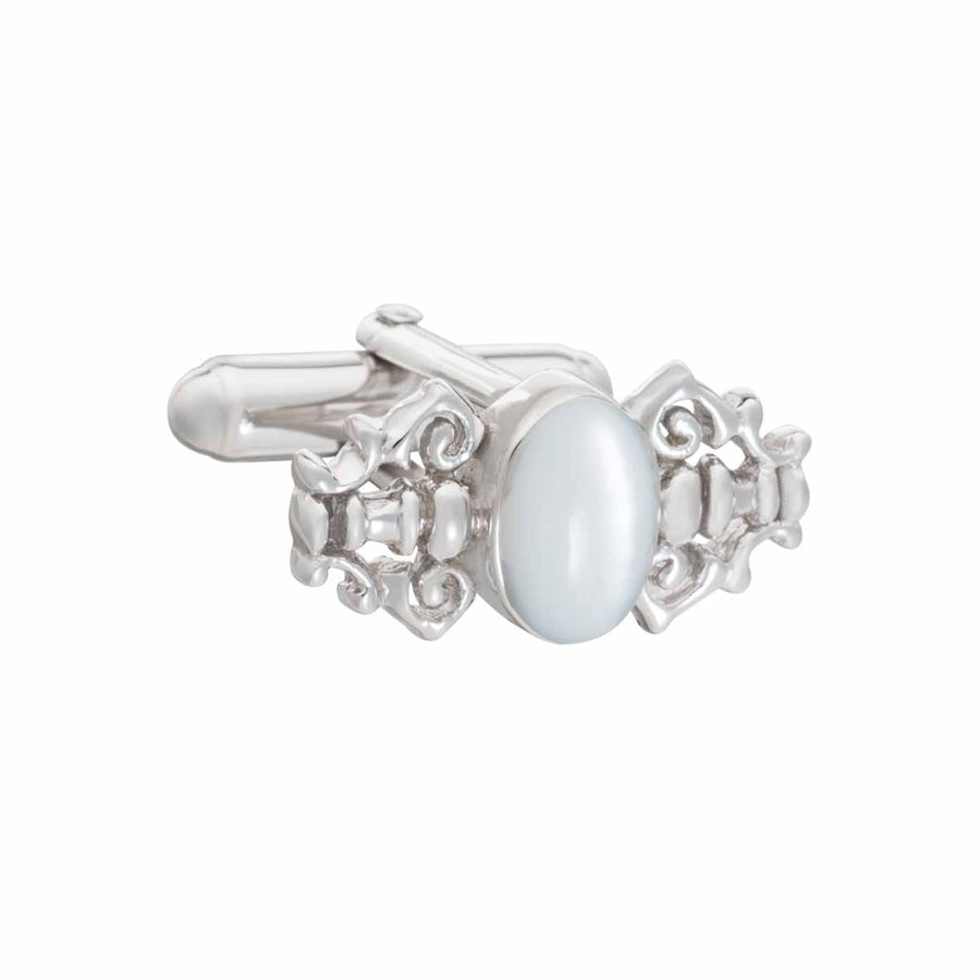 Fancy Mother of Pearl and .925 Solid Silver Cufflinks by Elizabeth Parker