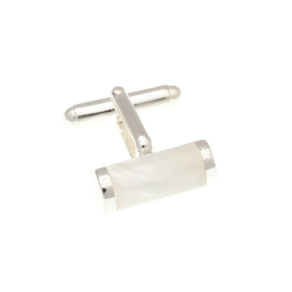 Mother of Pearl and .925 Solid Silver Tube Cufflinks by Elizabeth Parker