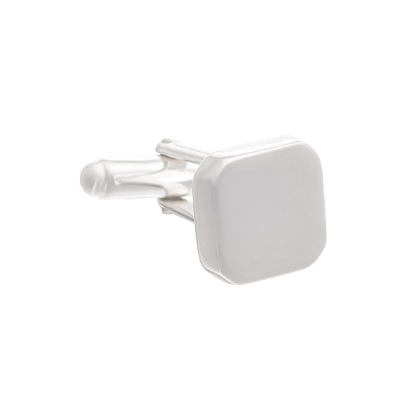 Bordering on Square Cufflinks in .925 Solid Silver by Elizabeth Parker